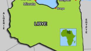 存档图片:利比亚地图