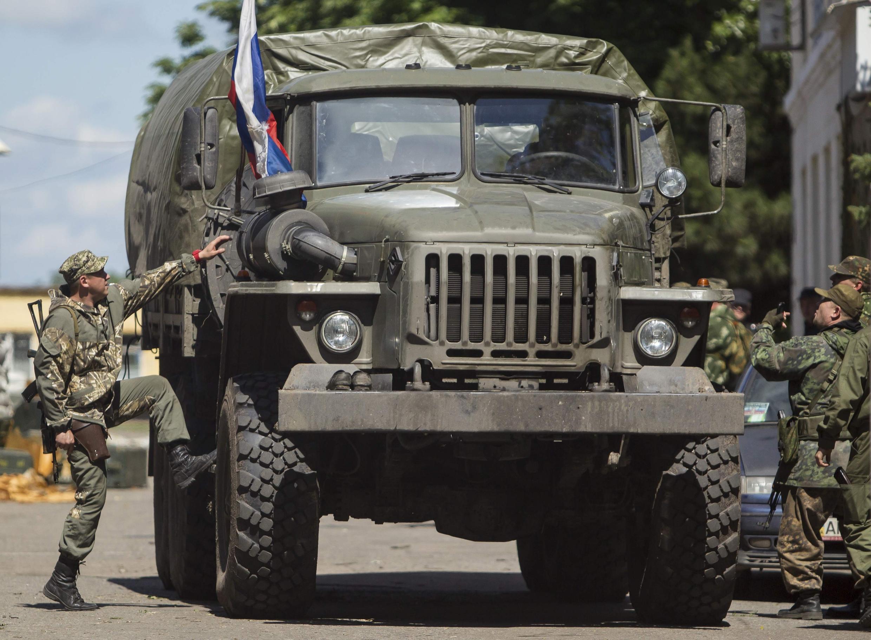 Пророссийские сепаратисты в Донецке 28/06/2014