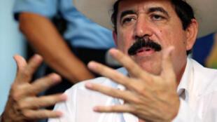 El expresidente hondureño Manuel Zelaya.