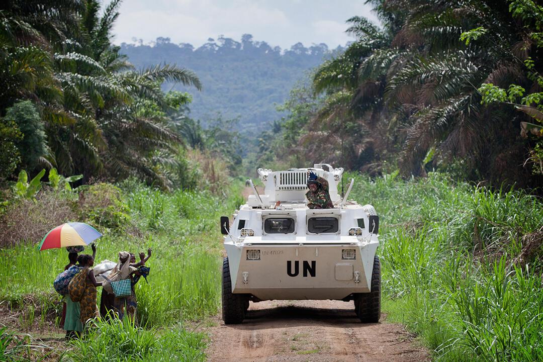 Raia wa Beni mashariki mwa Congo wakipongeza operesheni inyoendeshwa na vikosi vya Umoja wa Mataifa dhidi ya waasi wa Uganda ADF-NAlu,  Machi 13 mwaka 2014.
