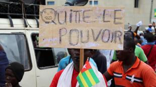 Manifestation de l'opposition pour appeler au départ du président Faure Gnassingbé, le 7 septembre à Lomé.
