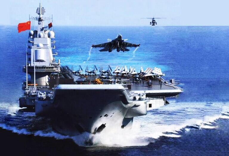 中国航母战斗群蓝图网络照片
