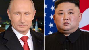 Les dirigeants russe et nord-coréen, Vladimir Poutine et Kim Jong Un, se rencontrent pour la première fois, le 25 avril 2019.
