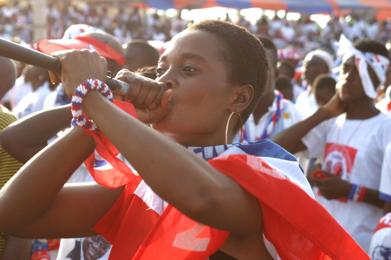 Vuvuzelas were very popular at the NPP rally.
