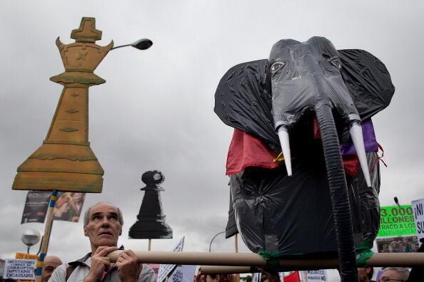 Manifestation pour l'abolition de la monarchie à Madrid, le 28 septembre 2013.