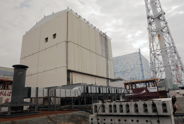 Khu lò số 1 và 2 của nhà máy điện hạt nhân Fukushima, Nhật Bản (Ảnh chụp ngày 29/12/2012)