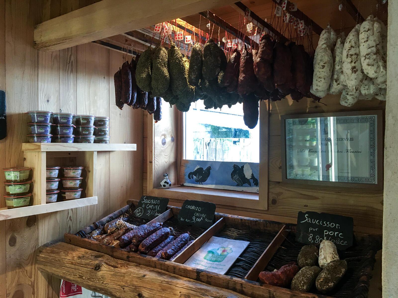 Магазин на ферме в Сен-Жерве.