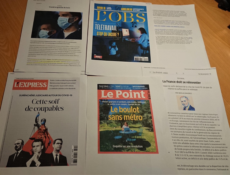 Semanários franceses 23 05 2020