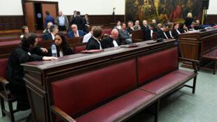 Vue de la salle d'audience du tribunal de Bruxelles où le verdict de 20 ans de prison a été prononcé contre Salah Abdeslam ce 23 avril 2018.