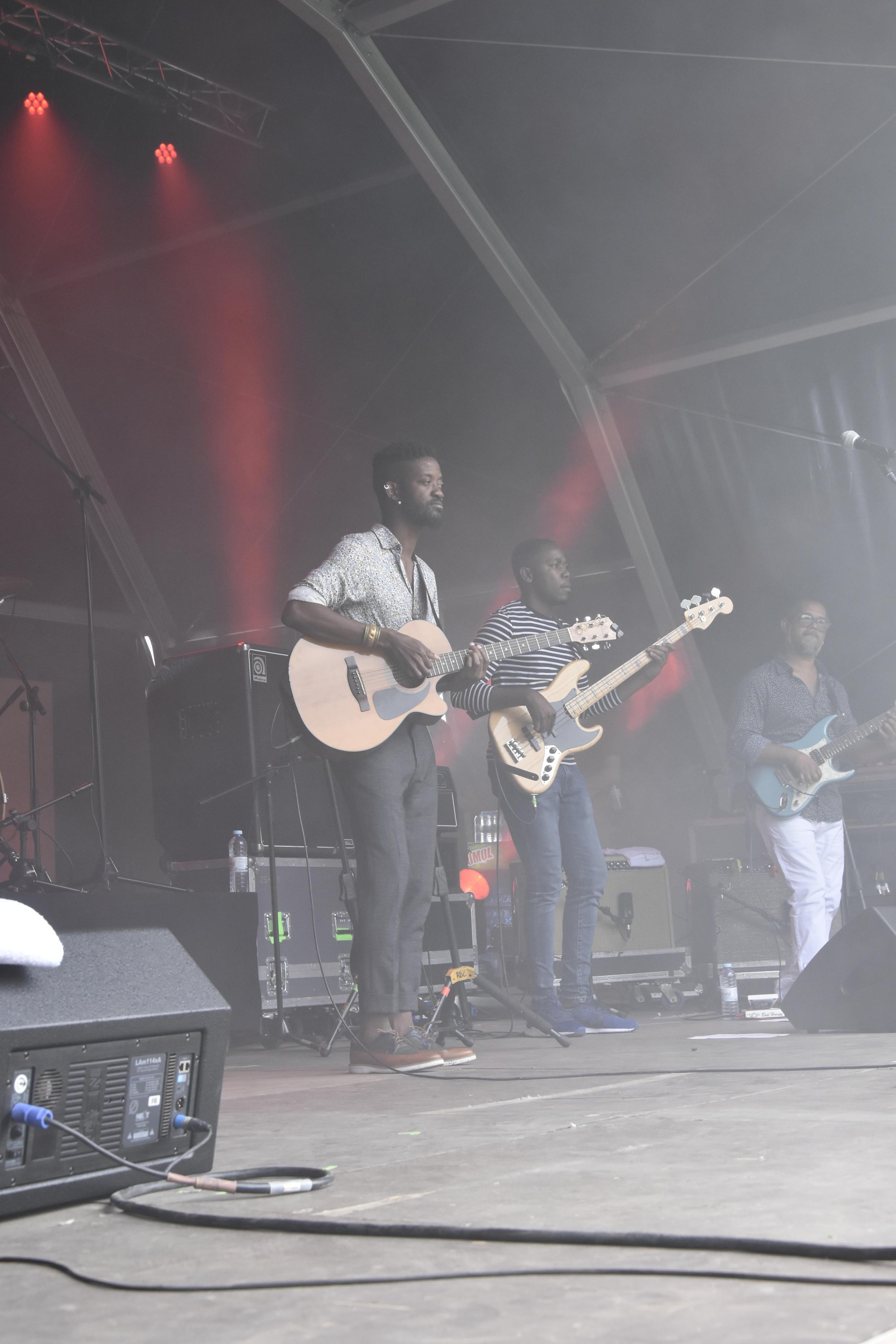A'Mosi Just a Label (Jack  Nkanga) durante o seu concerto  no  Rock in Rio 2018.  Lisboa.29 de Junho  de 2018