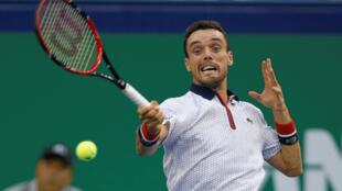 Roberto Bautista-Agut, lors d'un match face à Andy Murray, le 16 octobre à Shanghai en Chine.