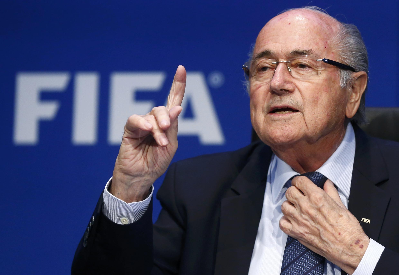 Joseph Blatter l'ancien président de la Fifa qui a démissionné en juin (ici à Zurich en mai 2015), n'a pas été inquiété dans les enquêtes sur les affaires de corruption.