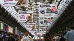 Advertising in Paris Gare de l'Est