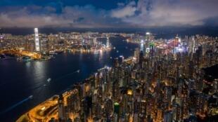 Vista aérea de Hong Kong, el 13 de septiembre de 2020