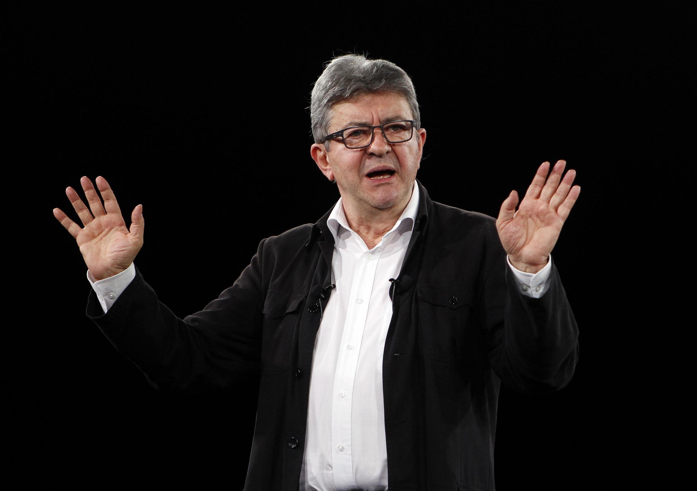 Le leader de la France insoumise et candidat à l'élection présidentielle de 2022 Jean-Luc Mélenchon.