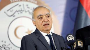 Ghassan Salamé à Tripoli le 5 août 2017.