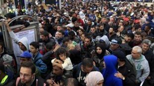 布达佩斯火车站的难民  2015年9月10号