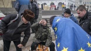"""""""Евромайдан"""" в Киеве."""