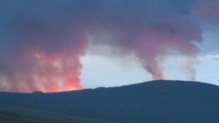 Mlipuko wa volkano mlima Nyamulagira mwaka 2010