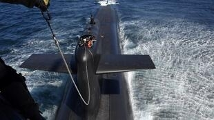 """""""Le Terrible"""" is one of the four French nuclear submarines."""