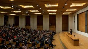 Yanick Lahens, leçon inaugurale à l'occasion de la création de la Chaire annuelle Mondes francophones au Collège de France.