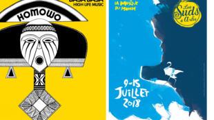 Pochette Basa Basa (Vintage Voudou) et Suds Arles 2018 Affiche © Christophe Alglave - Anaïs Bellot.