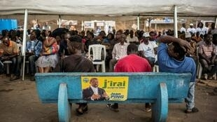 Un peu plus tôt dans la journée de ce jeudi 25 août 2016, Jean Ping a réuni ses partisans dans le quartier Carrefour Kanté Ozangué à Libreville.