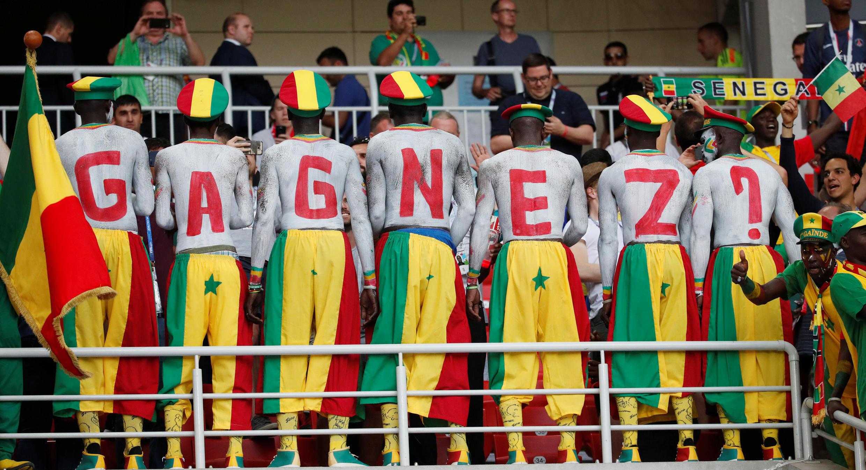 Des supporters sénégalais lors de Pologne-Sénégal, en Coupe du monde 2018 de football.