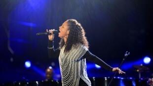 La chanteuse Alicia Keys.