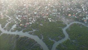 Vue aérienne de Conakry (Photo d'illustration).