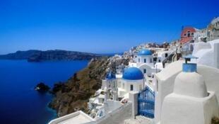 Les îles Cyclades en Grèce.