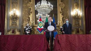 O ex-presidente do Banco Central Europeu, Maio Draghi, em Roma
