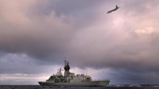 Hải quân và Không quân Úc tìm kiếm trên vùng biển Ấn Độ Dương chiếc máy bay MH 370 mất tích. Ảnh do Bộ Quốc Phòng Úc cung cấp 13/04/2014.