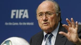 O actual presidente da FIFA, o suiço Joseph Blatter.