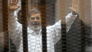 Mohammed Morsi akiwa Mahakamani wakati wa uhai wake