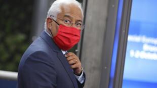 Primeiro-ministro português, António Costa. Bruxelas, 2 de Outubro de 2020. Olivier Matthys / POOL / AFP