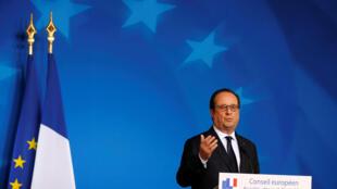 O presidente francês, Fraçois Hollande, em Bruxelas.