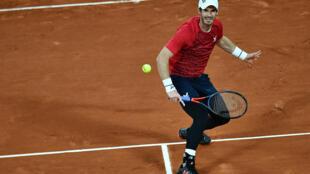 Le Britannique Andy Murray lors du 1er tour de Roland-Garros, le 27 septembre 2020