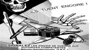 Chaque année en France, 500 à 800 tonnes des munitions anciennes, abandonnées, dégradées et plus dangeureuses sont découvertes.