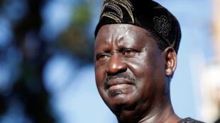 Le leader de la coalition de l'opposition NASA, Raila Odinga, le 28 novembre 2017.