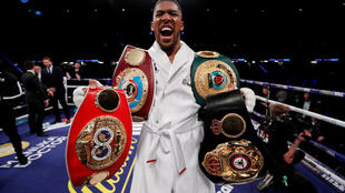 Anthony Joshua holds four of the five heavyweight belts following his points victory over Joseph Parker.