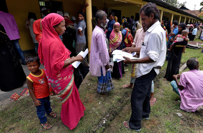 Habitantes do Estado de Assam no Registo Nacional de Cidadãos 8/07/2018