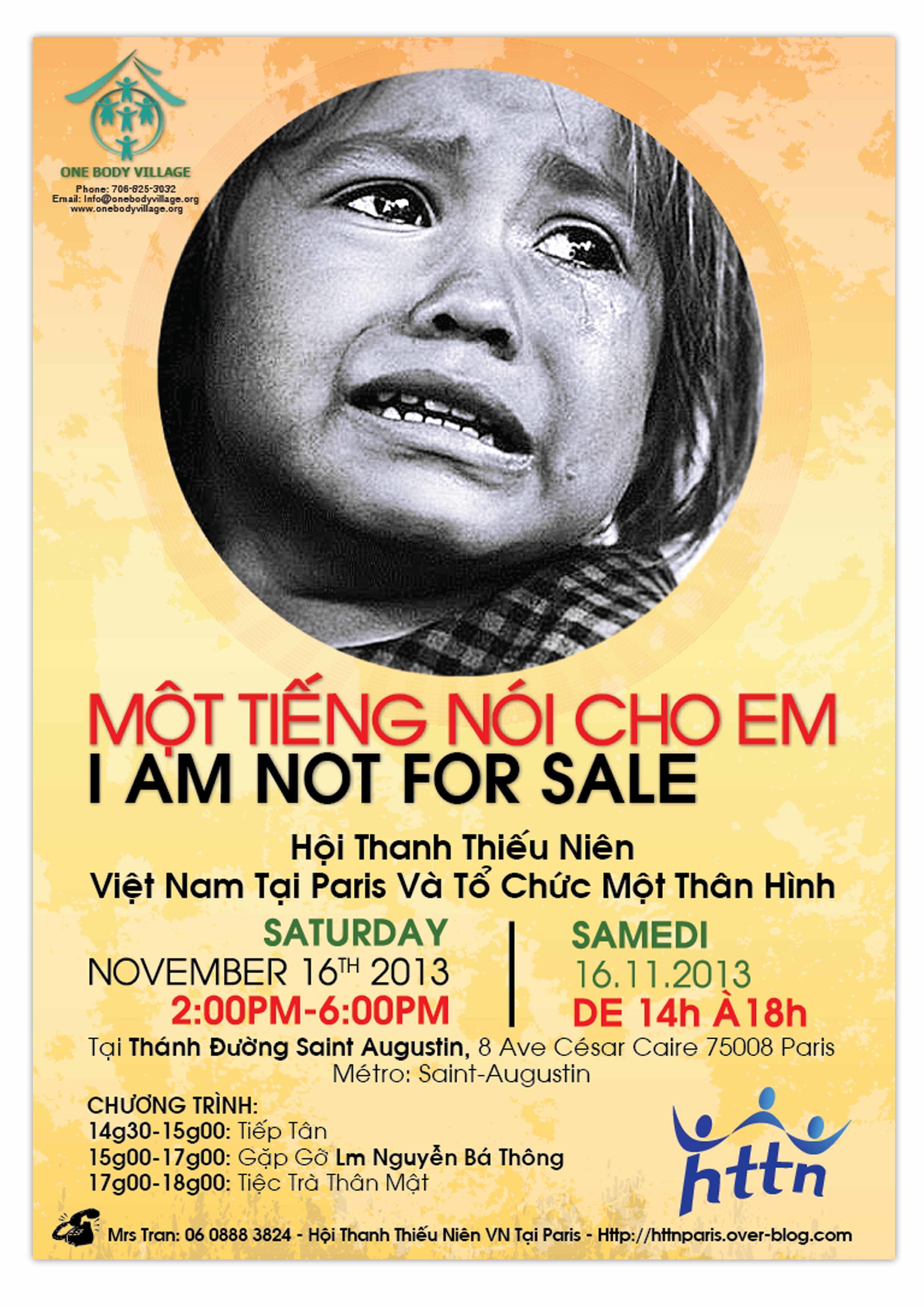 Affiche buổi thuyết trình của linh mục Nguyễn Bá Thông ngày 16/11 tại Paris.