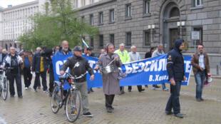 Manifestation anti-gouvernementale devant le siège de la présidence de la République.
