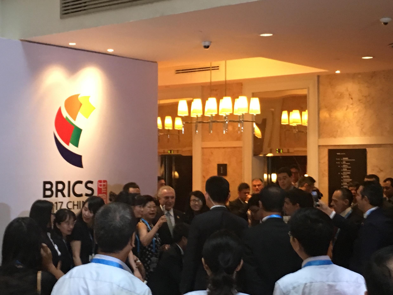 O presidente Michel Temer participou do encerramento da nona cúpula do Brics, em Xiamen, antes de embarcar de volta ao Brasil nesta terça-feira, 5 de setembro de 2017.
