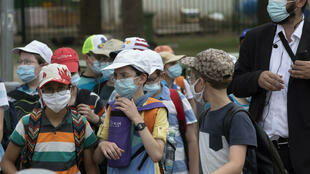 Israel - school - masque - école - enfants