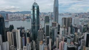 Vista aérea de Hong Kong el 25 de mayo de 2021