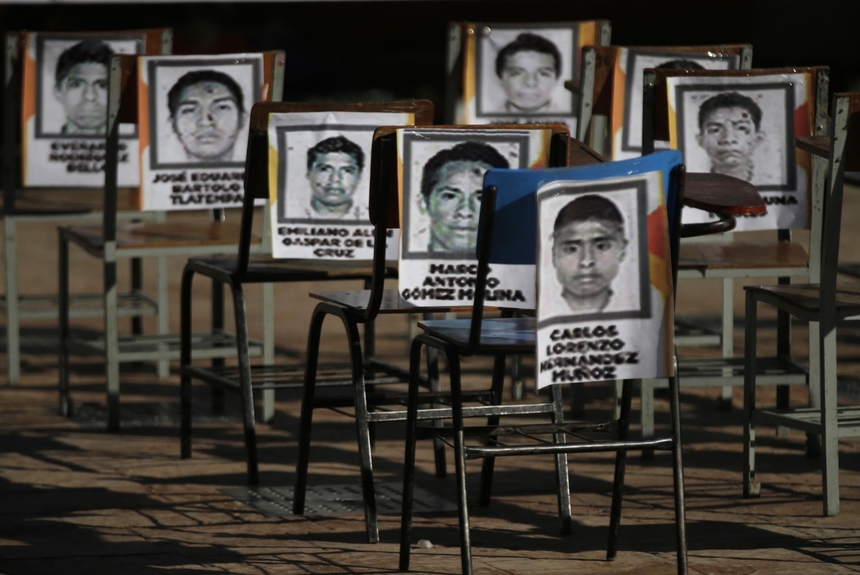 Fotos de lo estudiantes de la escuela Normal de Ayotzinapa desaparecidos en Iguala, Guerrero. Archivo del 5 de noviembre de 2014.