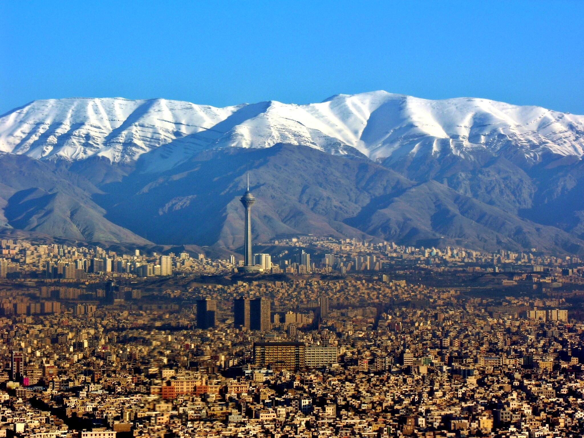 Tehran and the Alborz Mountains