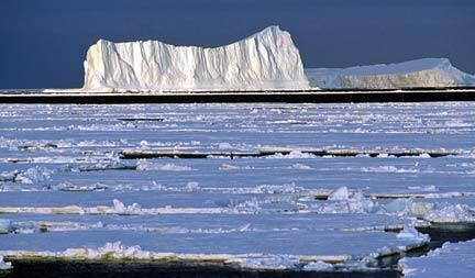 Iceberg de la Terre Adélie en Antarctique